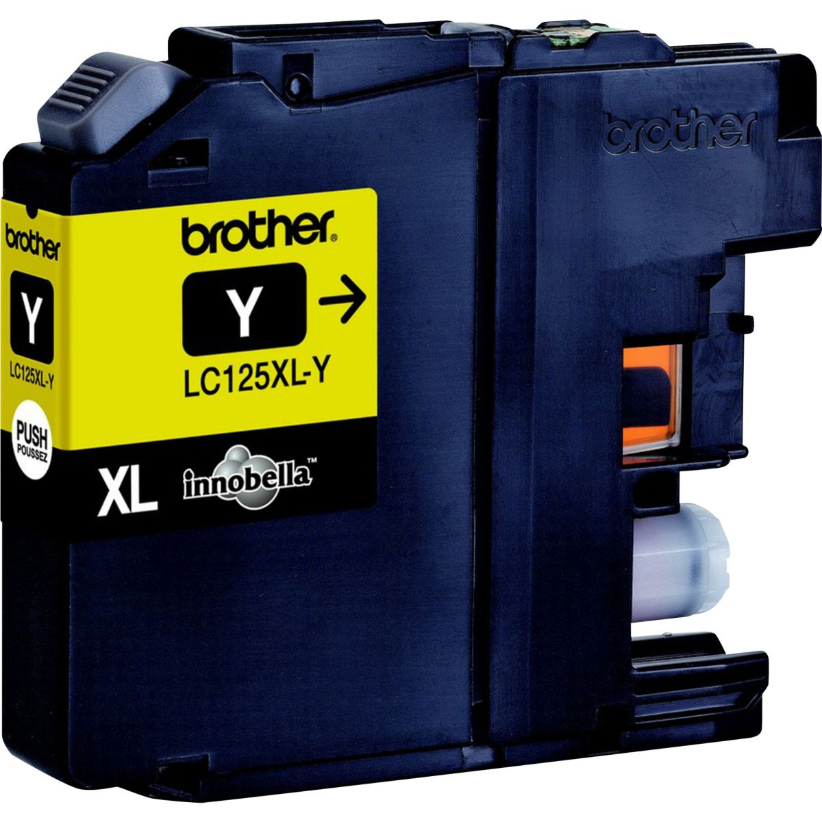Cartouche d'encre brother lc125 xl jaune (photo)