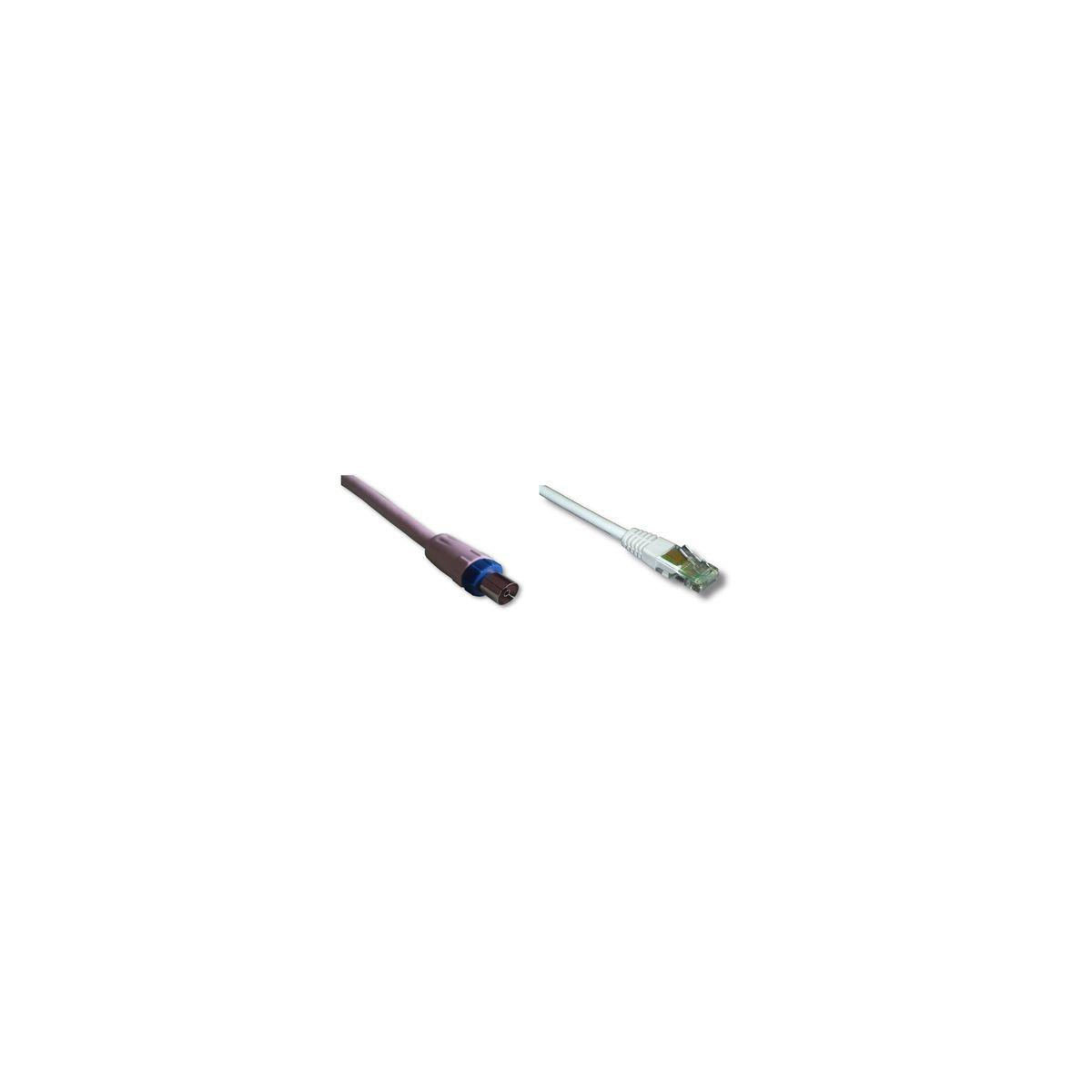 Coaxial sc mâle 9,52 mm / rj45 mâle (photo)