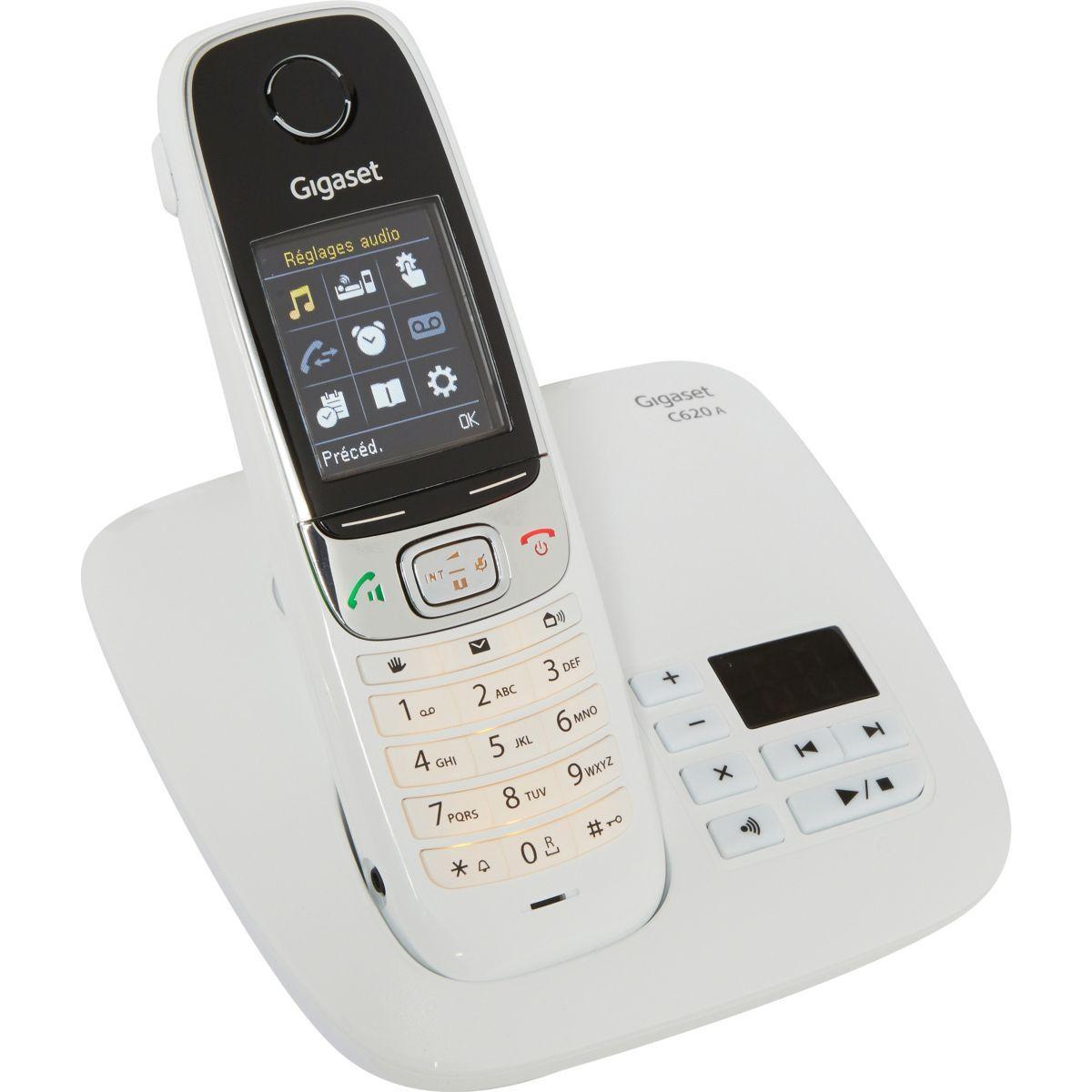 Téléphone répondeur sans fil gigaset c620a blanc (photo)