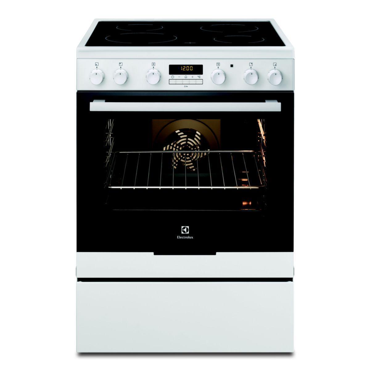 Pack promo cuisinière vitrocéramique pyrolyse electrolux ekc 6670 aow + groupe aspirant electrolux efg 50300 x (photo)