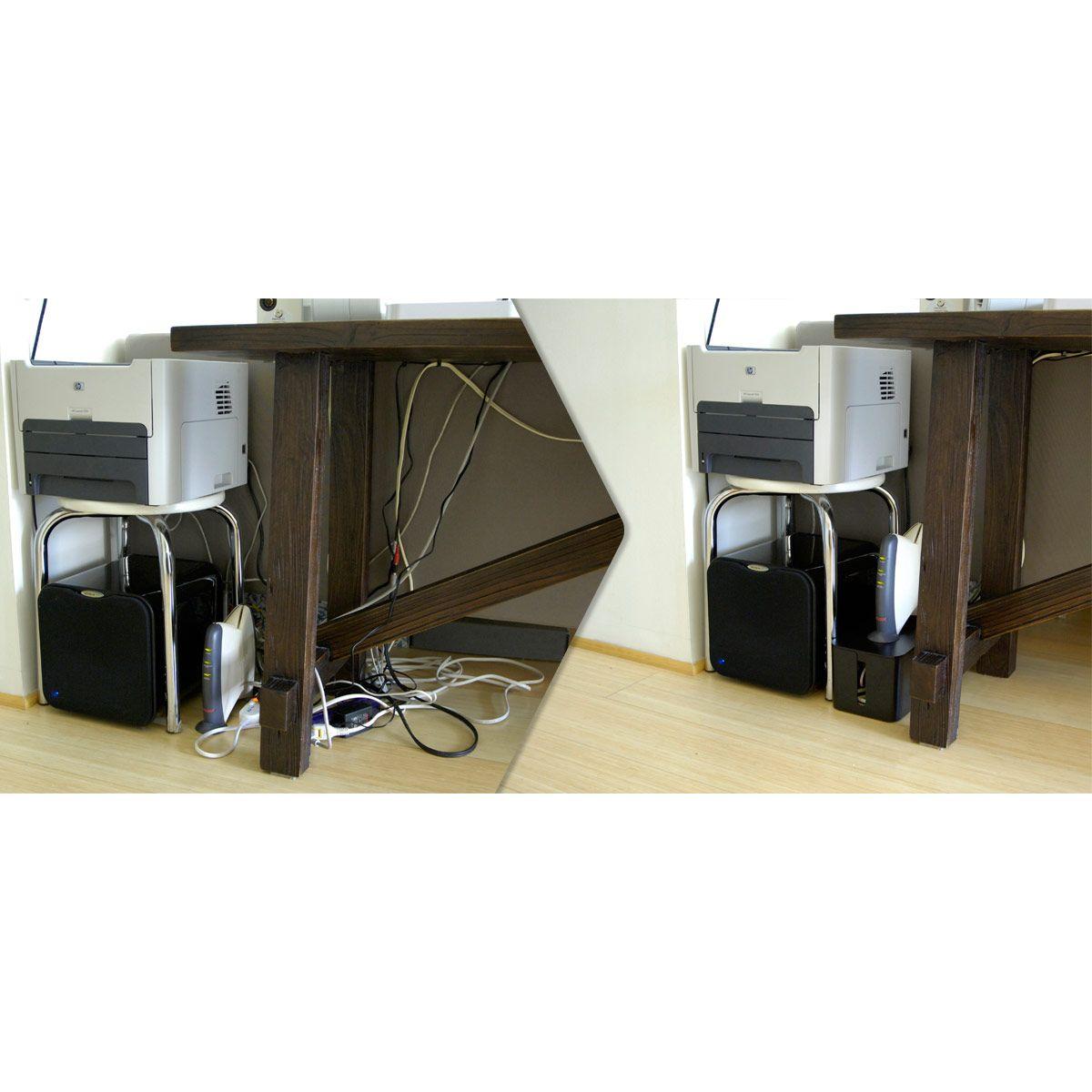 Cache câble bluelounge cablebox noir - livraison offerte : code liv (photo)