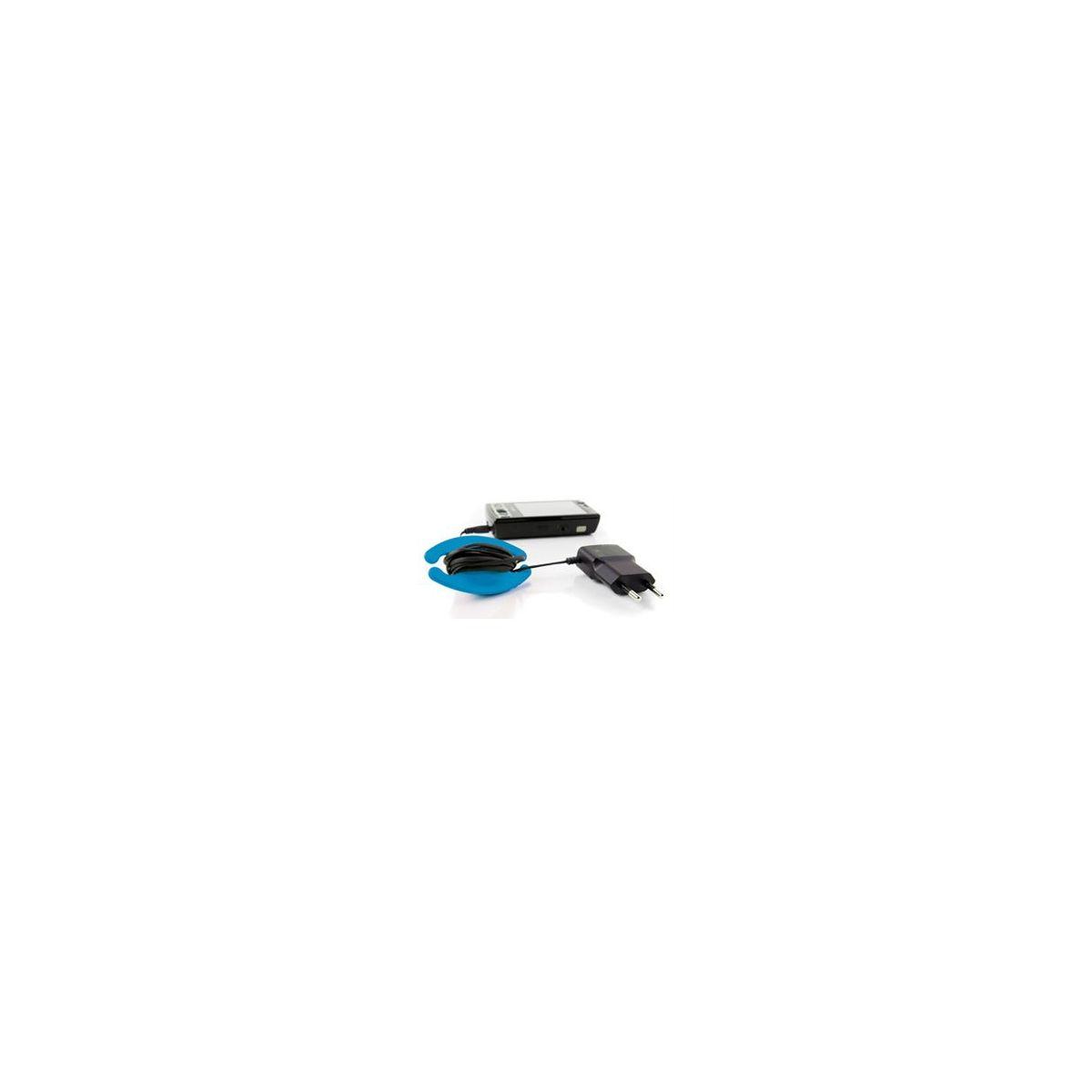 Serre-câble bobino enrouleur de cable m bleu (photo)