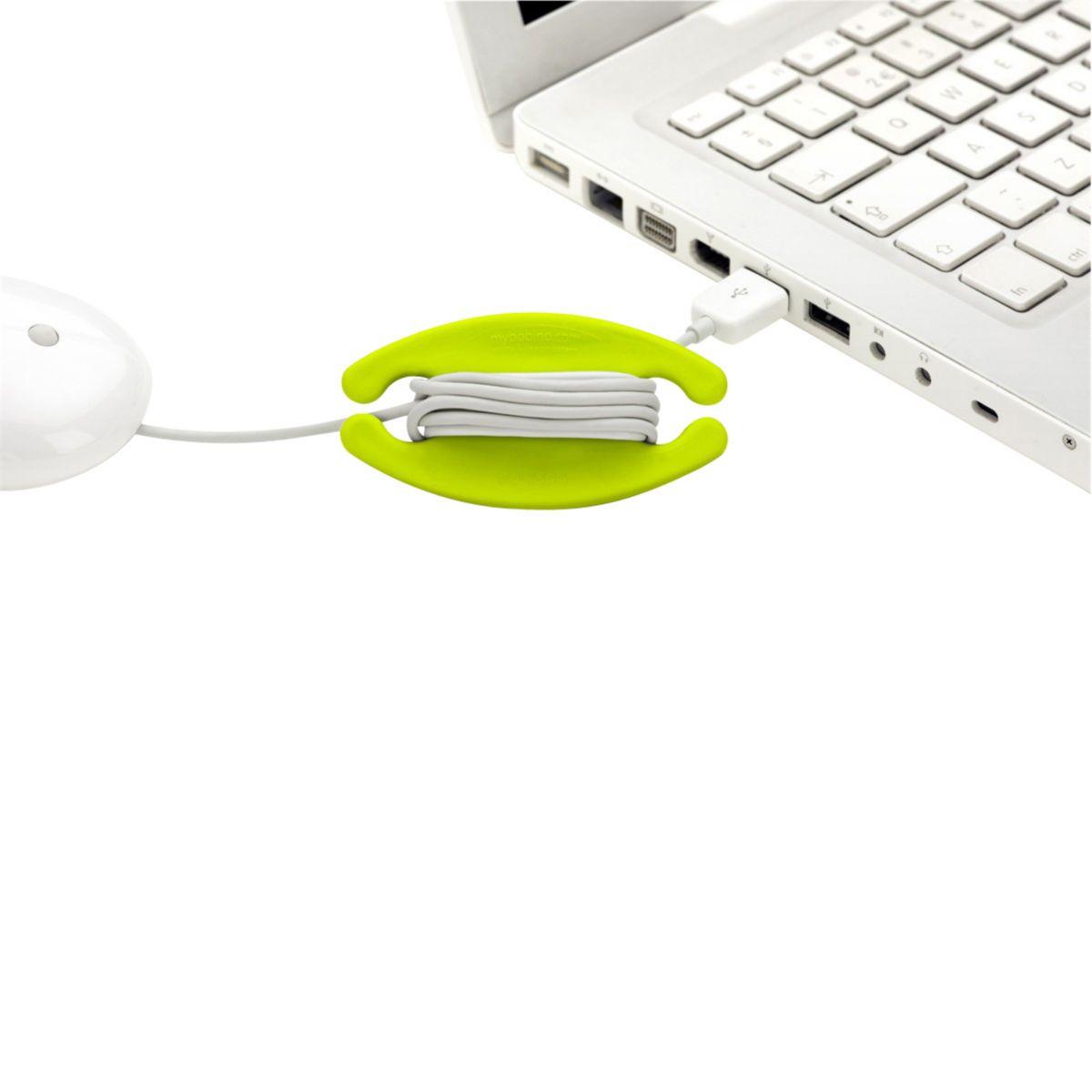 Serre-câble bobino enrouleur de cable m vert (photo)