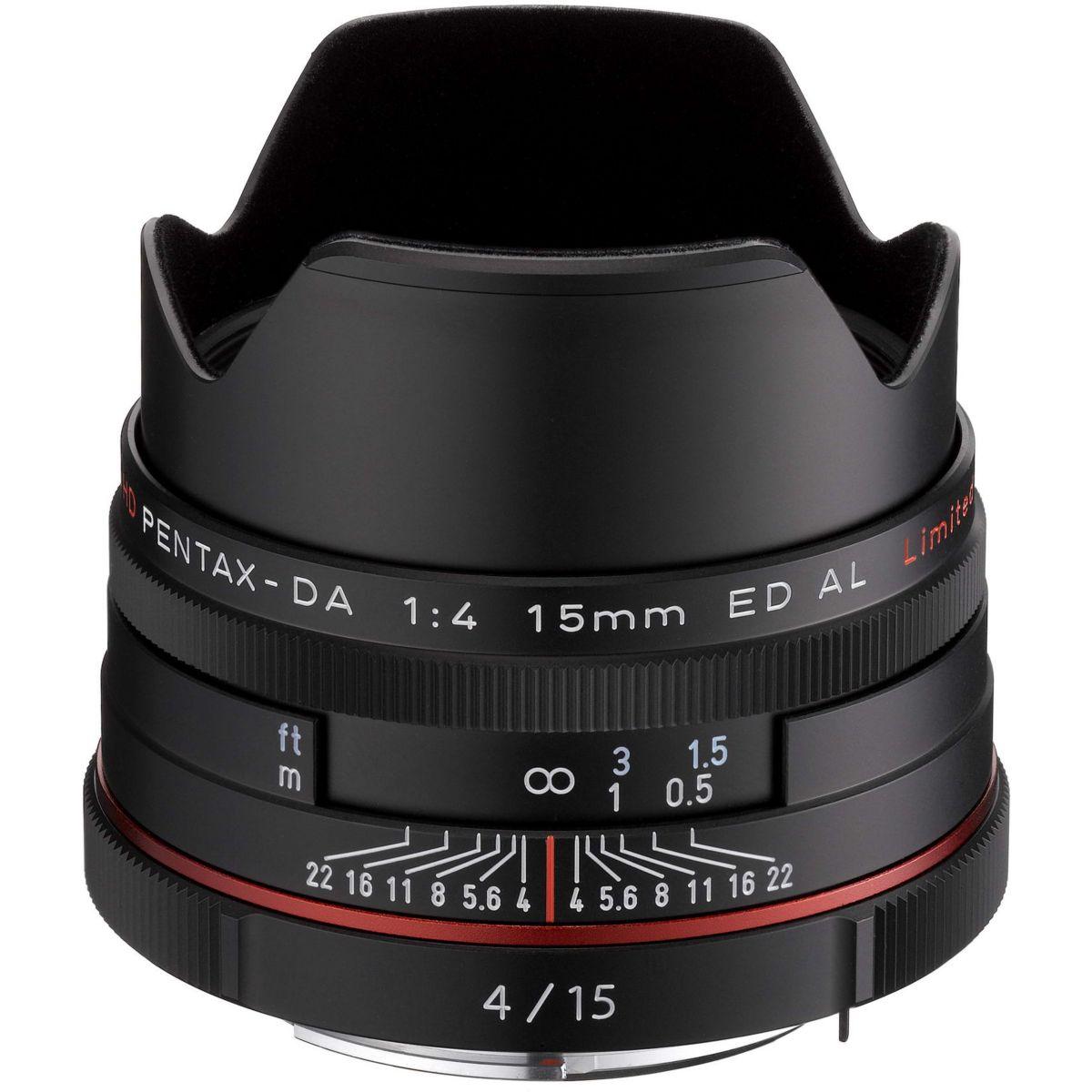 Objectif pentax hd da 15mm f/4,0 ed al limited noir