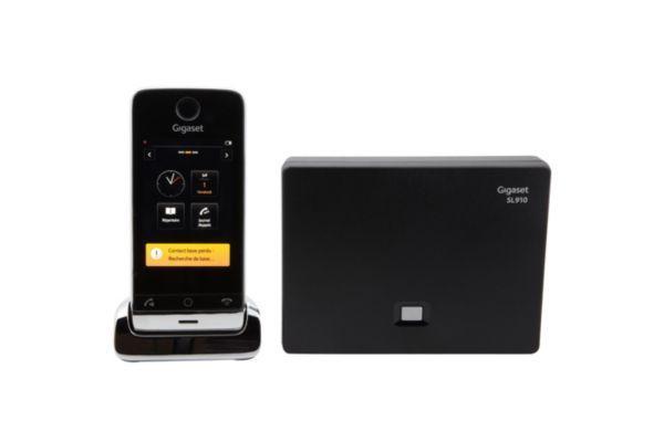 Pack promo téléphone sans fil siemens gigaset sl910 tactile + combiné supplémentaire sans fil siemens gigaset sl910h tactile - livraison offerte avec (photo)