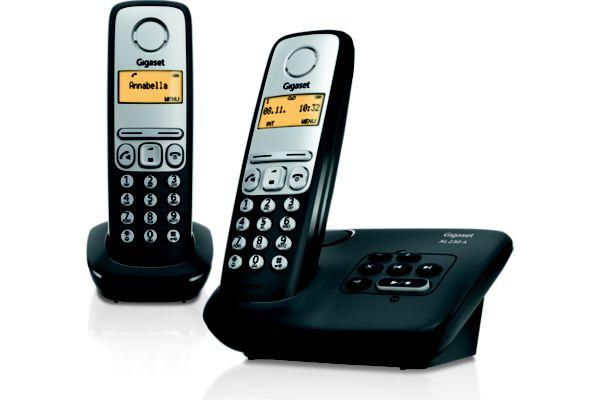 Téléphone répondeur sans fil duo gigaset al230a duo noir (photo)