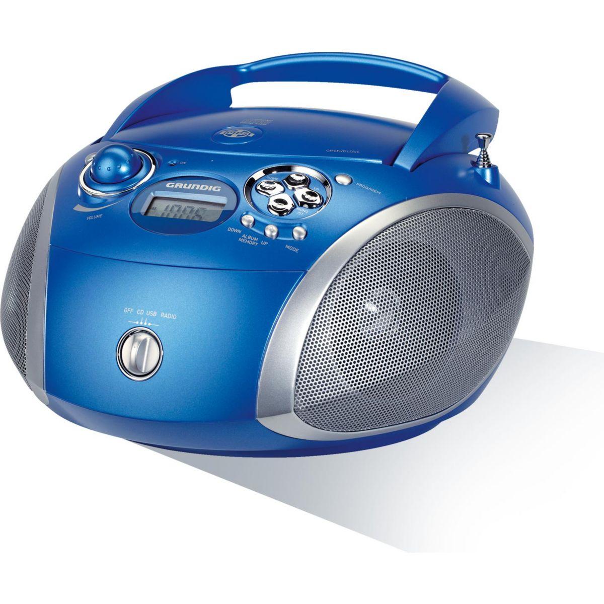 Radio cd grundig rcd1445 bleu - 15% de remise imm�diate avec le code : fete15 (photo)