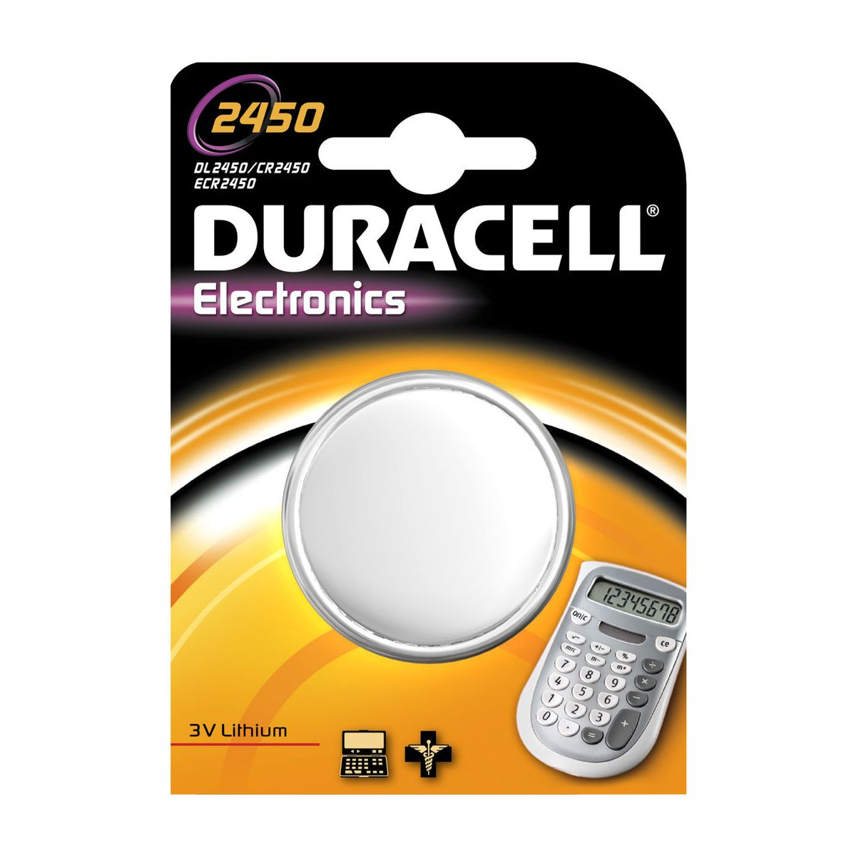 Pile non rechargeable duracell spe 2450 (photo)
