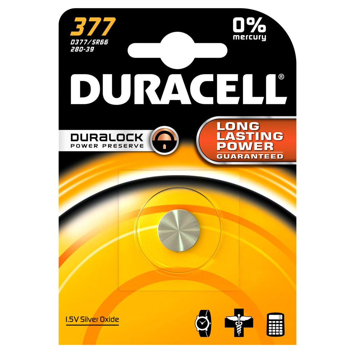 Pile non rechargeable duracell 377 (photo)
