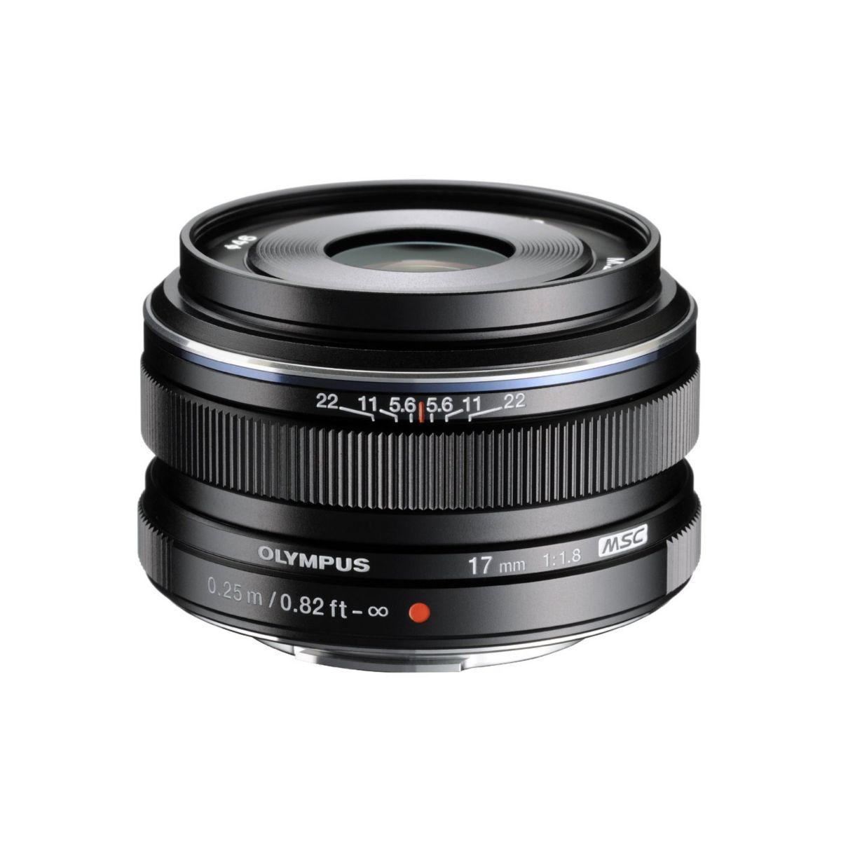 Objectif olympus 17mm f/1.8 noir m.zuiko
