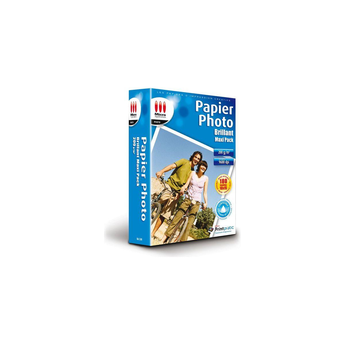Papier photo micro application photo maxi pack 10x15 brillant 200g 180 feuilles - 3% de remise immédiate avec le code : multi3 (photo)
