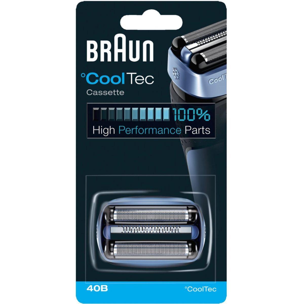 Cassette braun 40b cooltec - 20% de remise immédiate avec le code : pam20