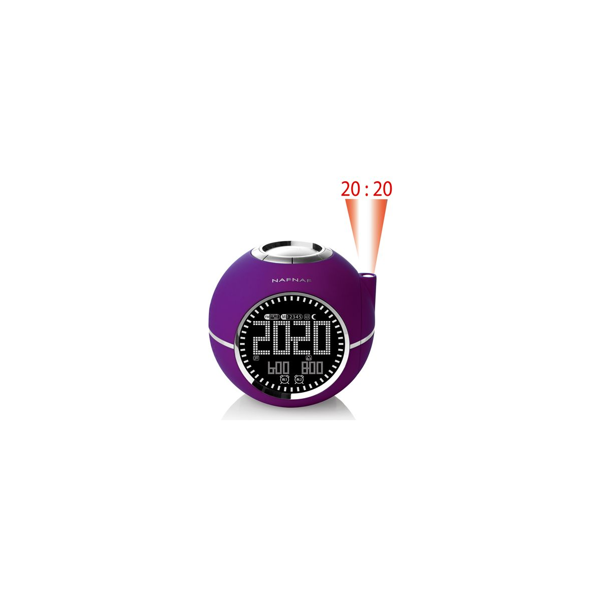 Radio-réveil nafnaf clockine prune - 7% de remise immédiate avec le code : multi7 (photo)