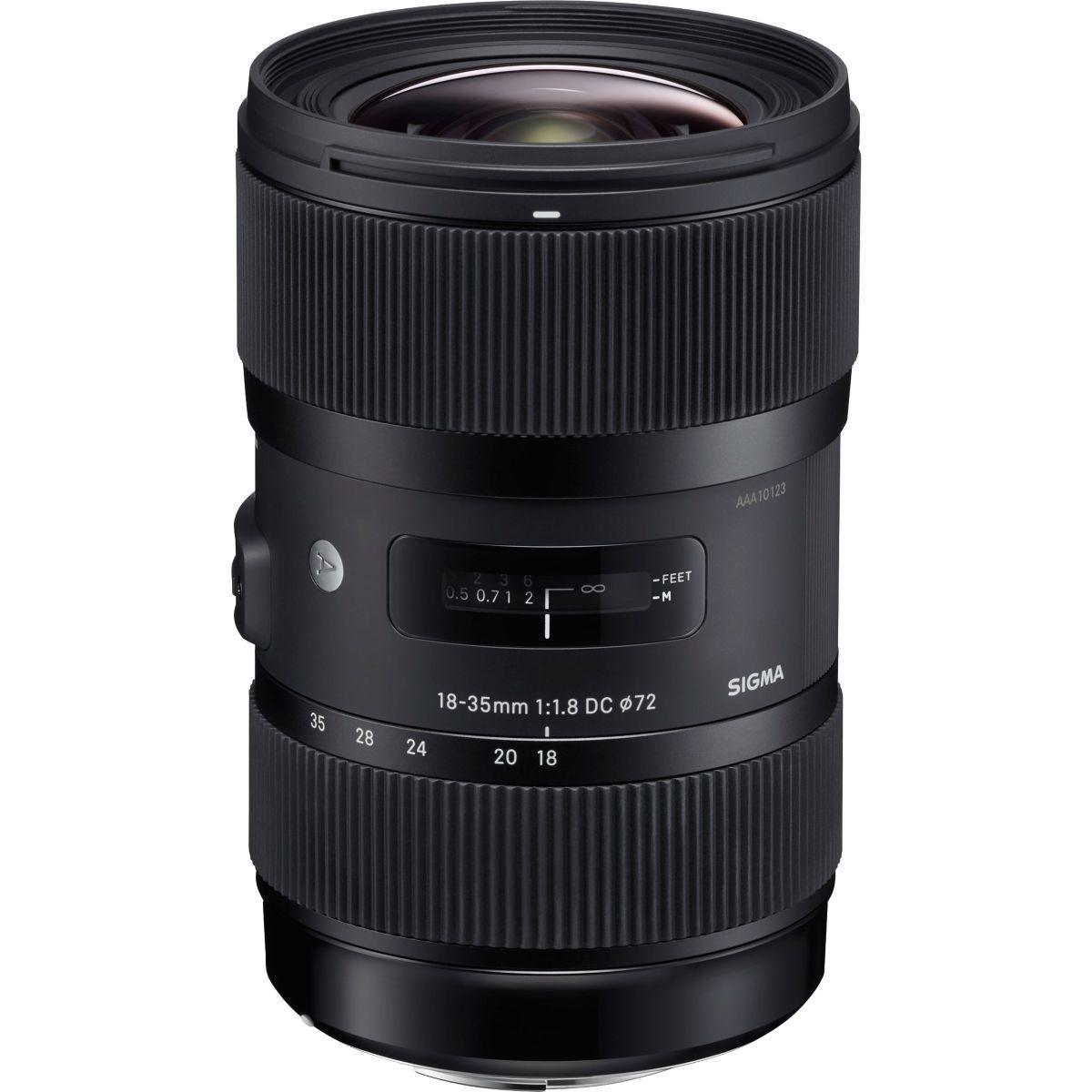 Objectif sigma 18-35mm f1,8 dc hsm art nikon