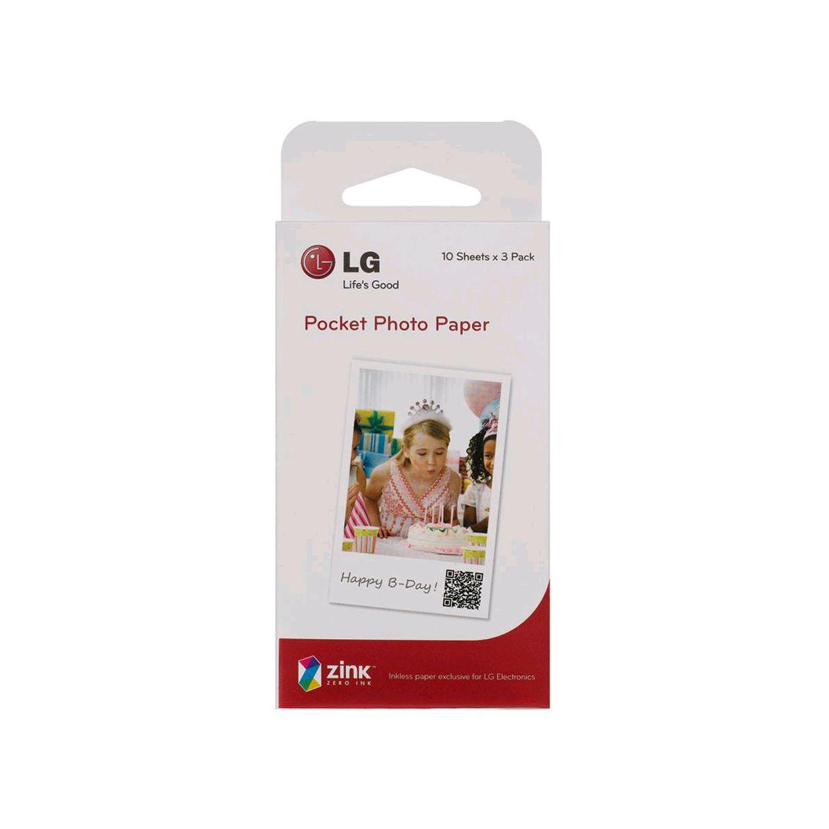 Papier photo instantan� lg ps2203 pocket photo 3x10f