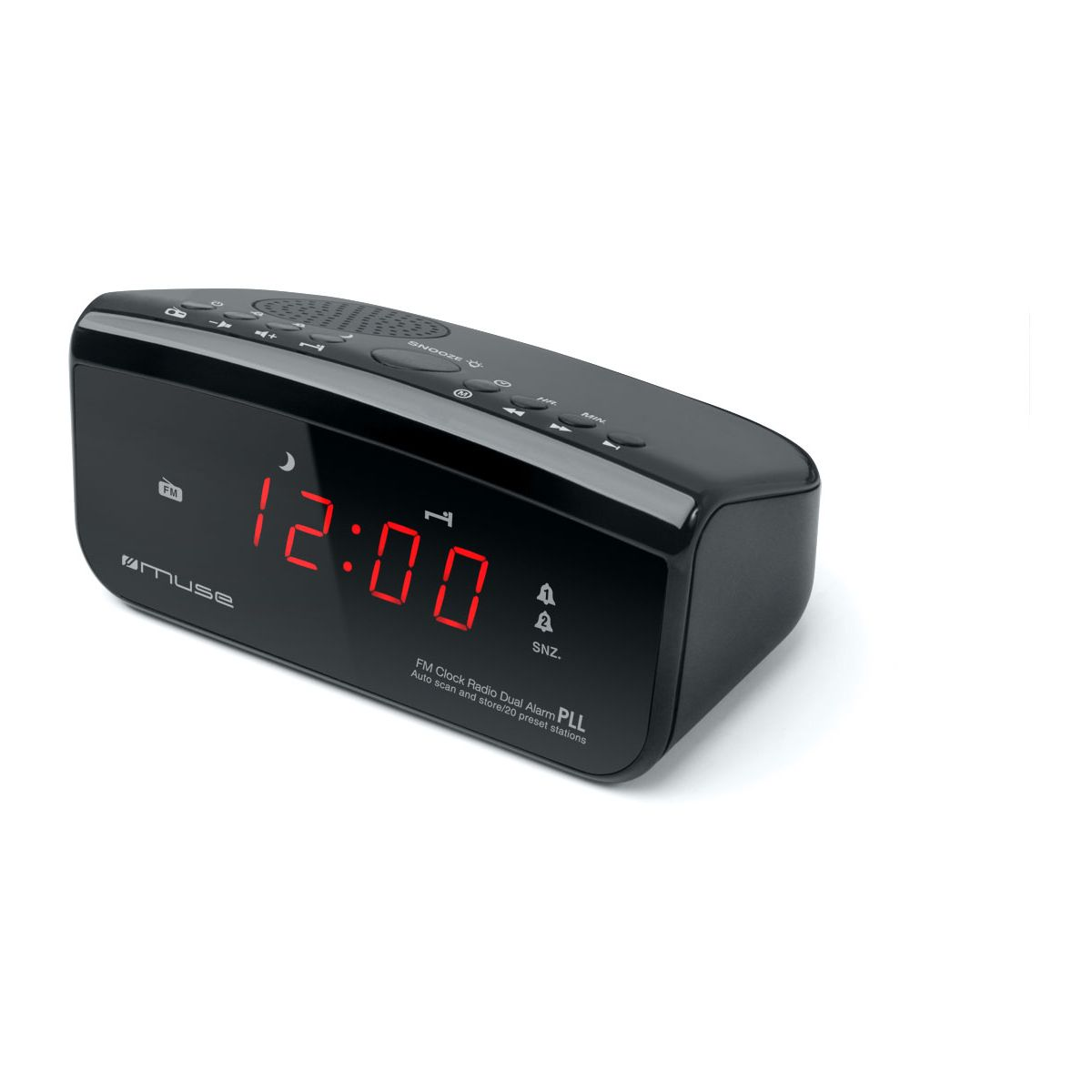 Radio-réveil muse m-12 cr - 7% de remise immédiate avec le code : multi7 (photo)