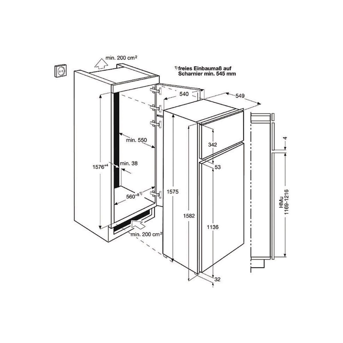 Réfrigérateur encastrable electrolux ejn2710aow - 2% de remise immédiate avec le code : cool2 (photo)