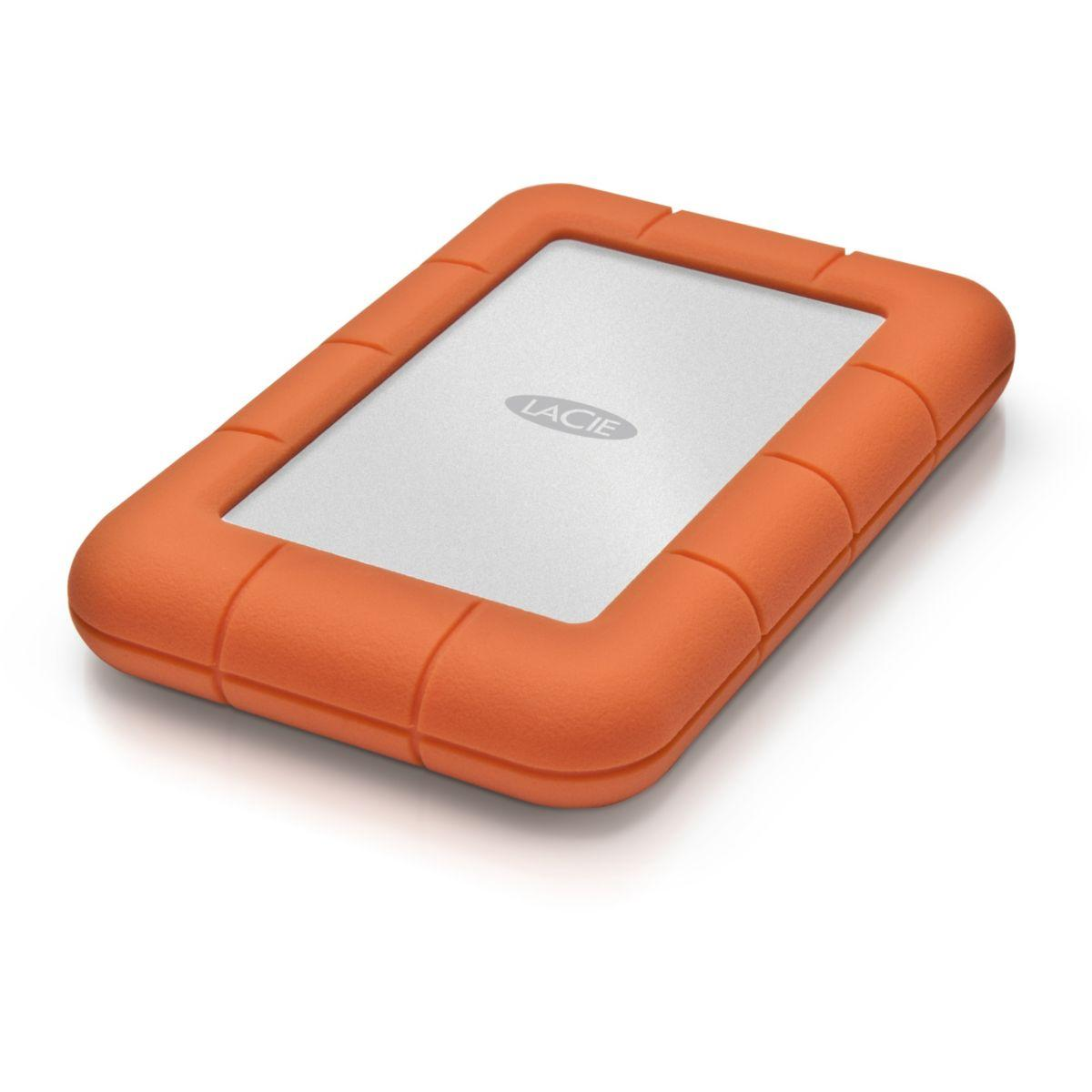Disque dur externe lacie 2,5 1to rugged mini shock rain pressure