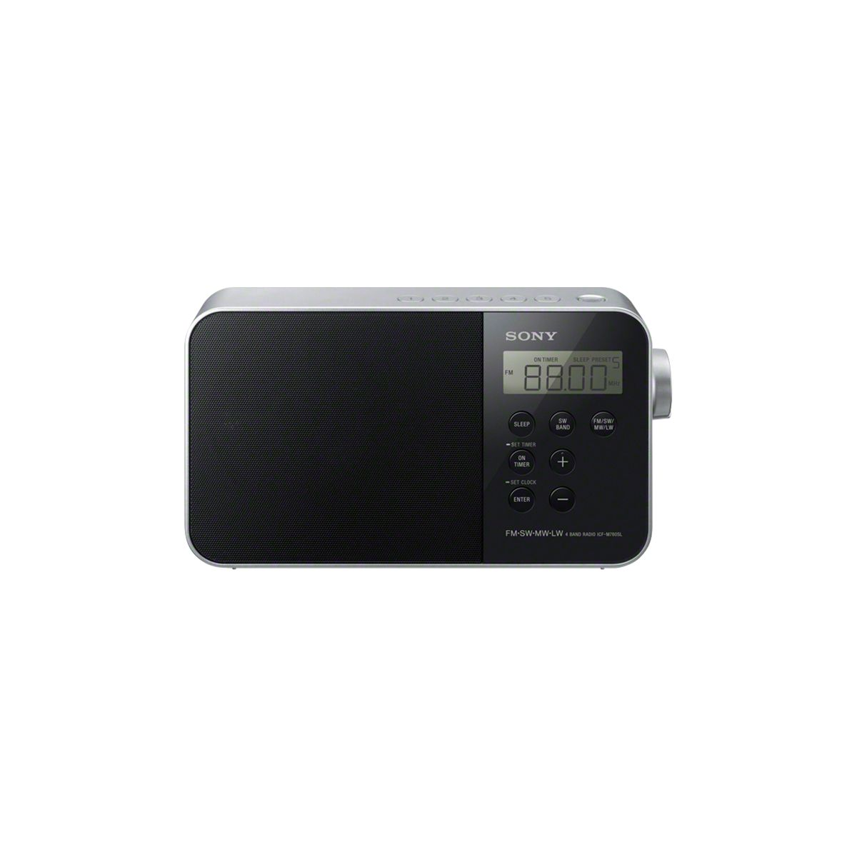 Radio analogique sony icfm780slb.ced noir - livraison offerte : code premium