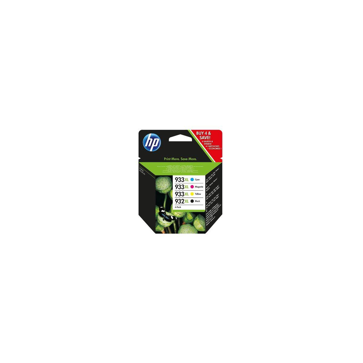 Cartouche d'encre hp n�932xl +n�933xl (n/c/m/j)