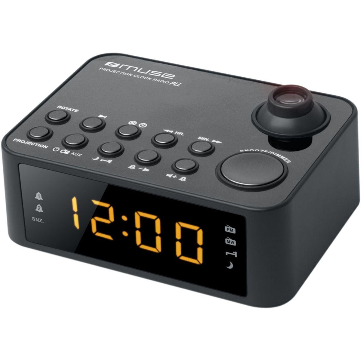 Radio-réveil muse m-178 p noir - 5% de remise : code multi5 (photo)
