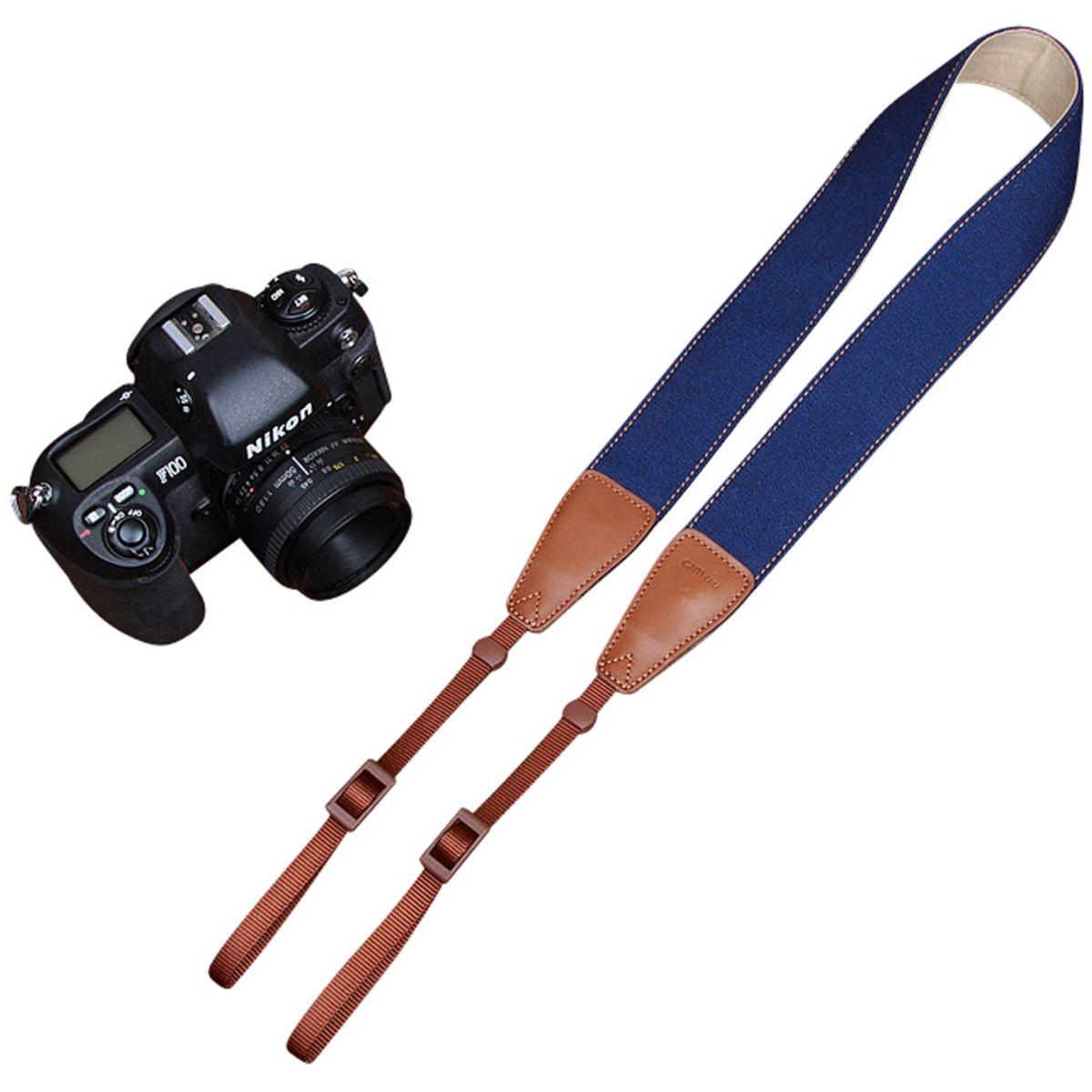 Courroie cam in denim bleu �lectrique - 2% de remise imm�diate avec le code : deal2