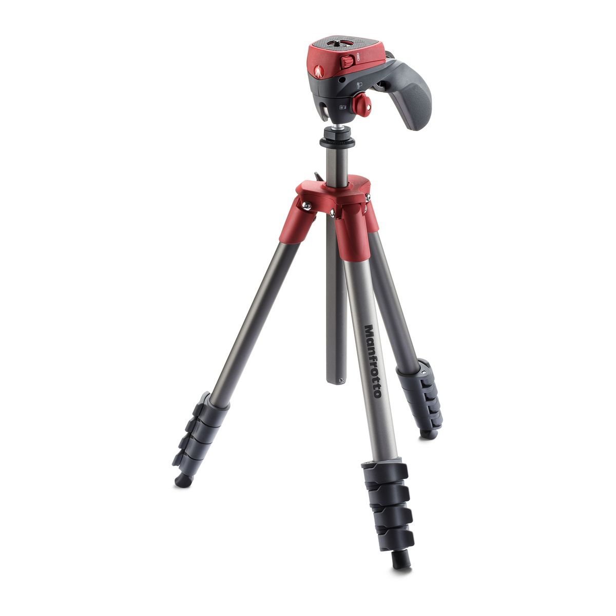Tr�pied manfrotto compact action rouge - 5% de remise imm�diate avec le code : school5 (photo)
