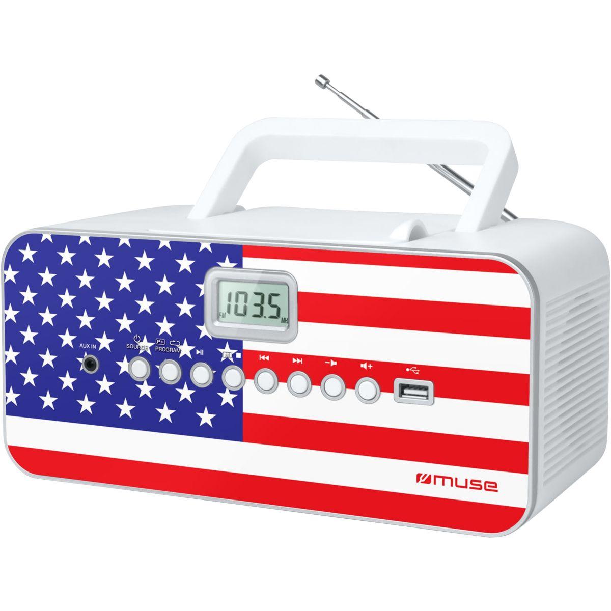 Radio cd muse m-28 us - 2% de remise imm�diate avec le code : fete2 (photo)