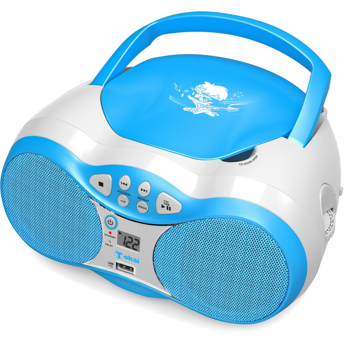 Radio cd boombox tokai tb-207 bleu - 2% de remise imm�diate avec le code : wd2 (photo)