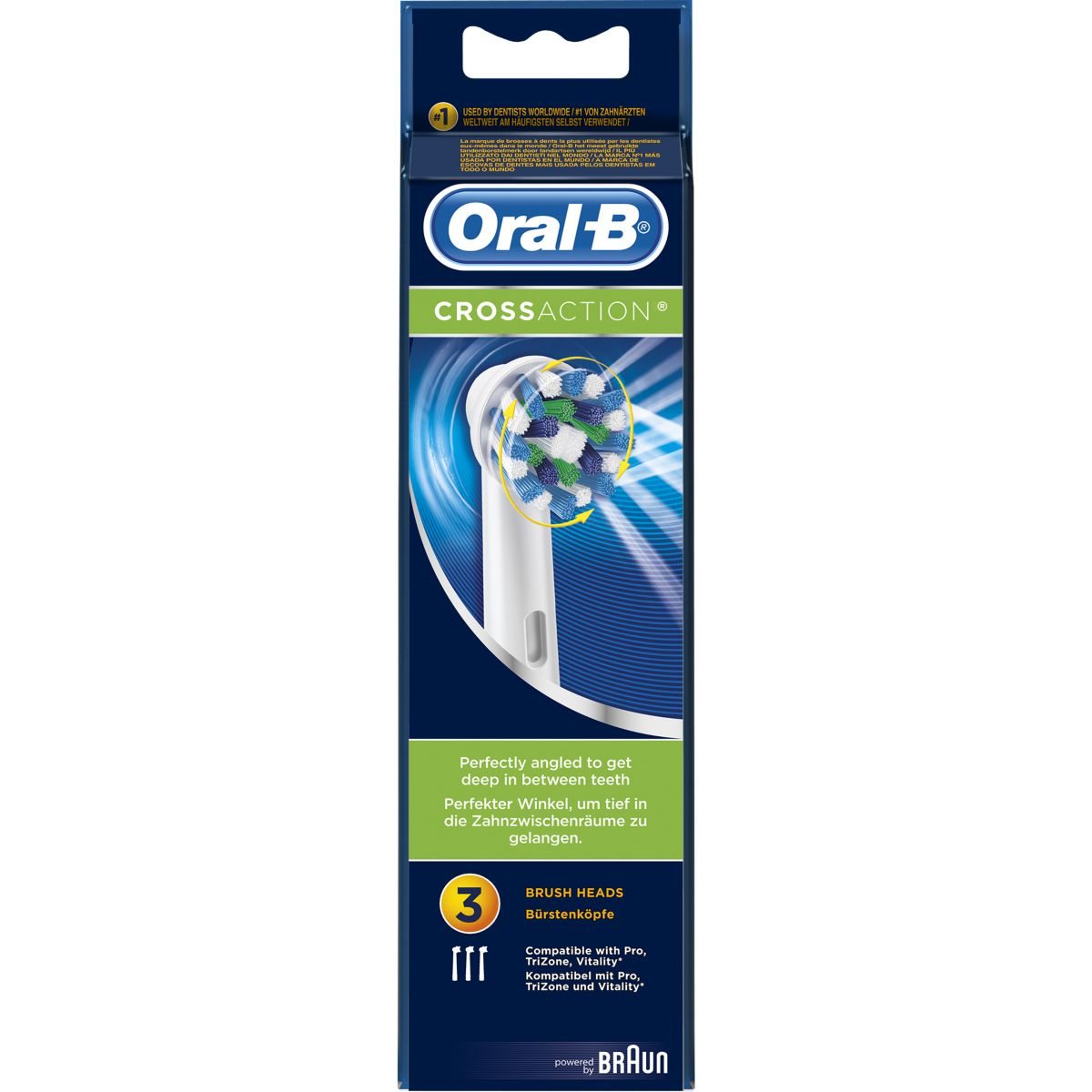 Brossette dentaire oral-b cross action x 3 - livraison offerte : code liv (photo)