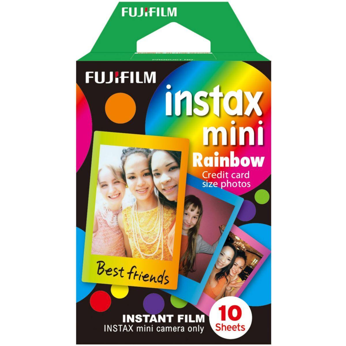 Papier photo instantan� fuji film instax mini rainbow (x10)