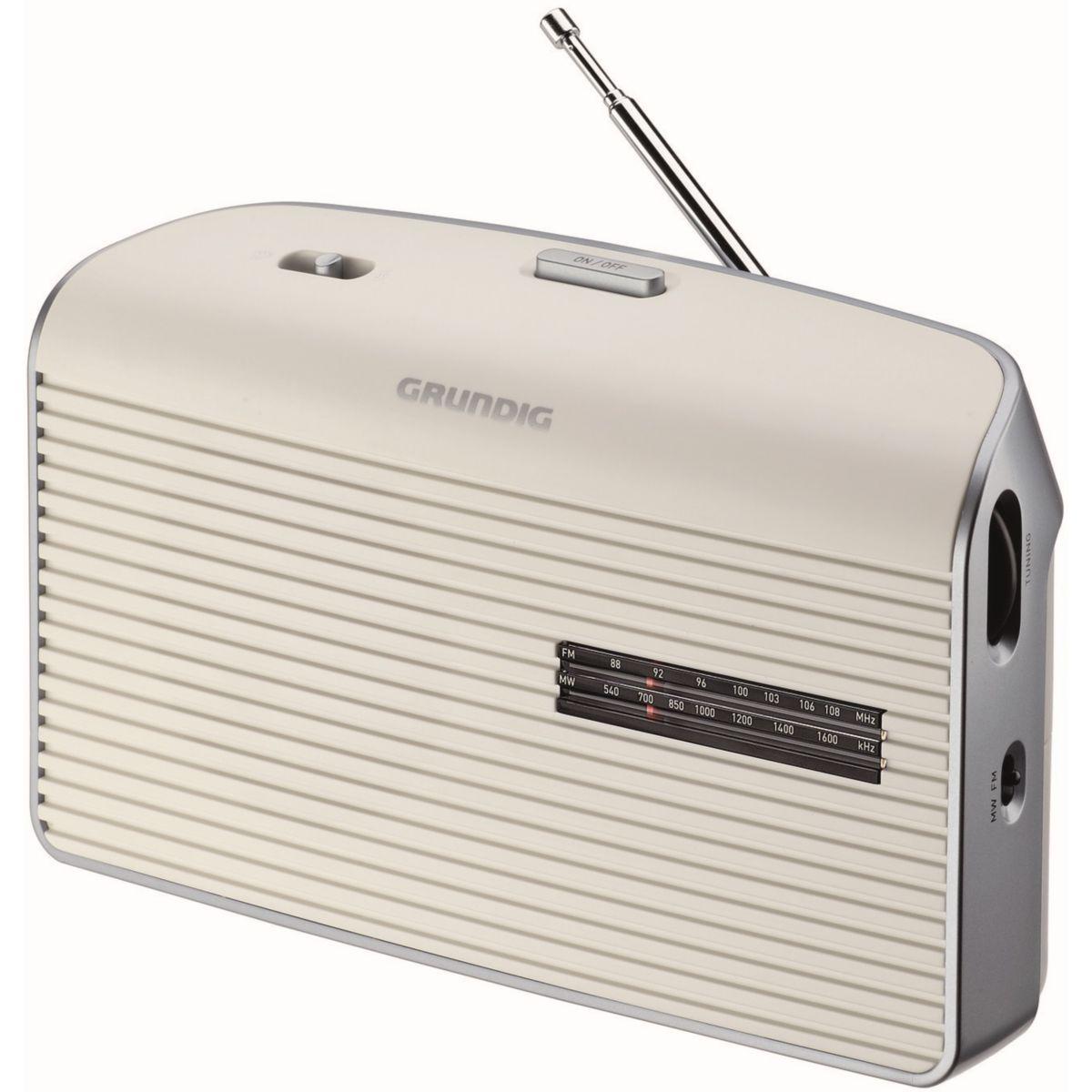 Radio grundig music 60 l blanc - livraison offerte : code liv (photo)