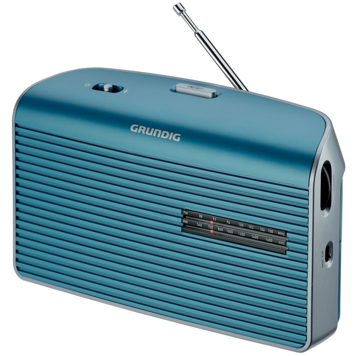 Radio grundig music 60 l turquoise - livraison offerte : code liv (photo)
