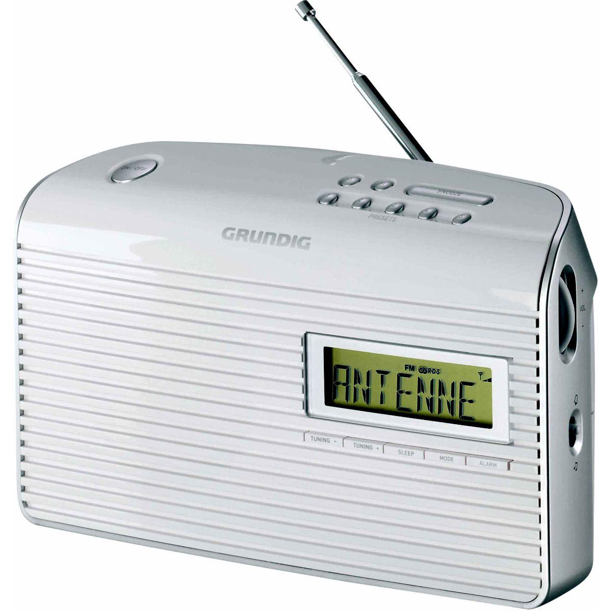 Radio analogique grundig music 61 blanc - livraison offerte : code premium