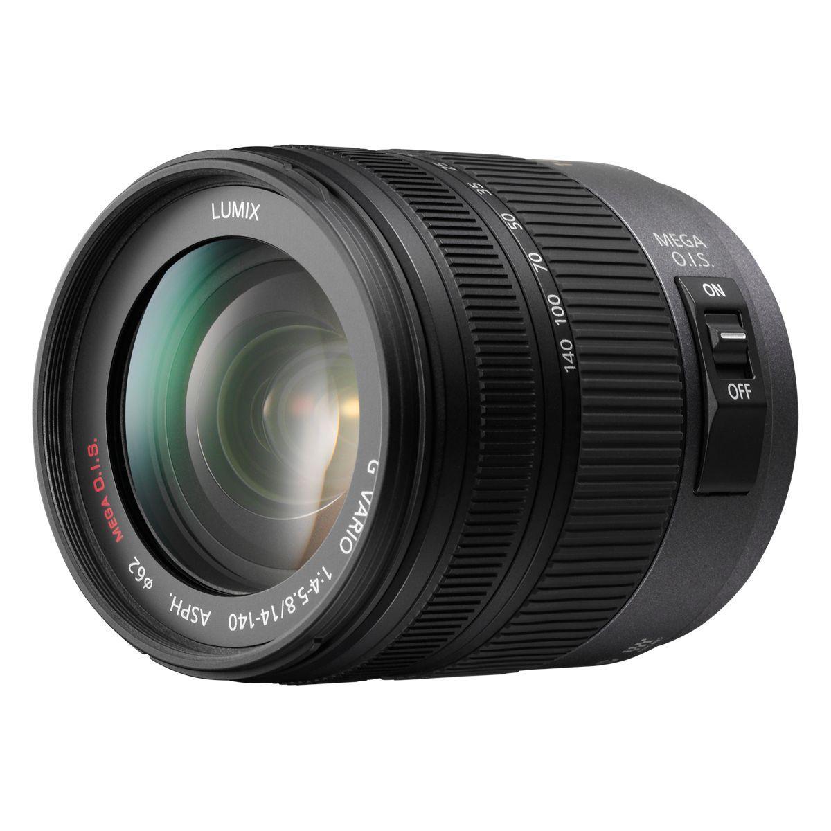 Objectif pour hybride panasonic 14-140mm f/3.5-5.6 ois noir g ...