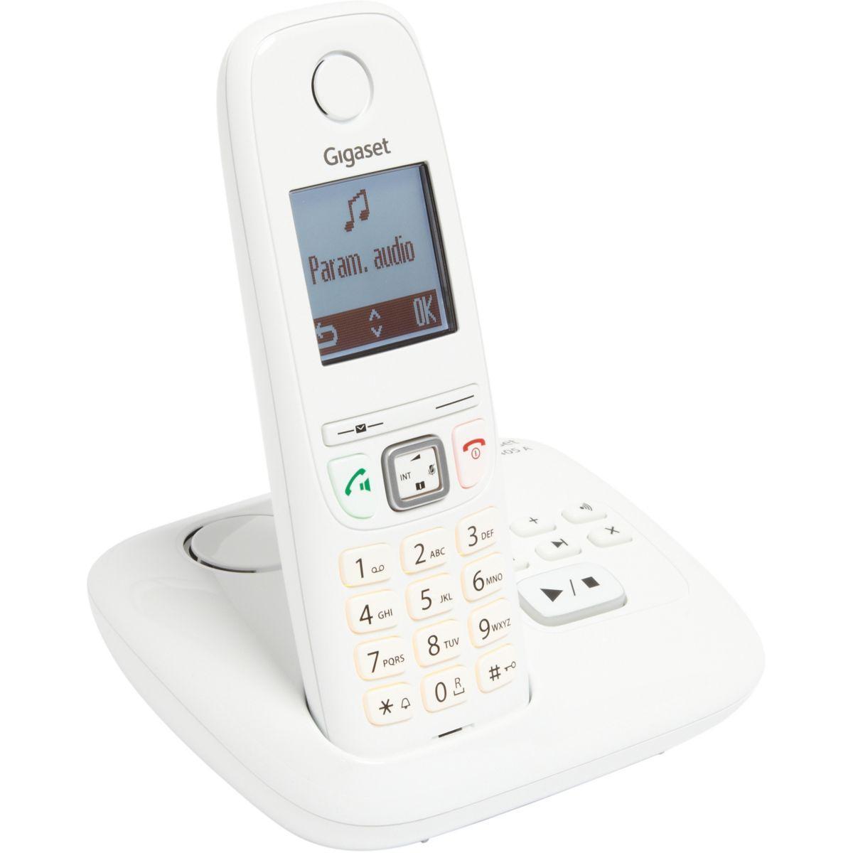 Téléphone répondeur sans fil gigaset as405a solo blanc - livraison offerte avec le code livofferte (photo)