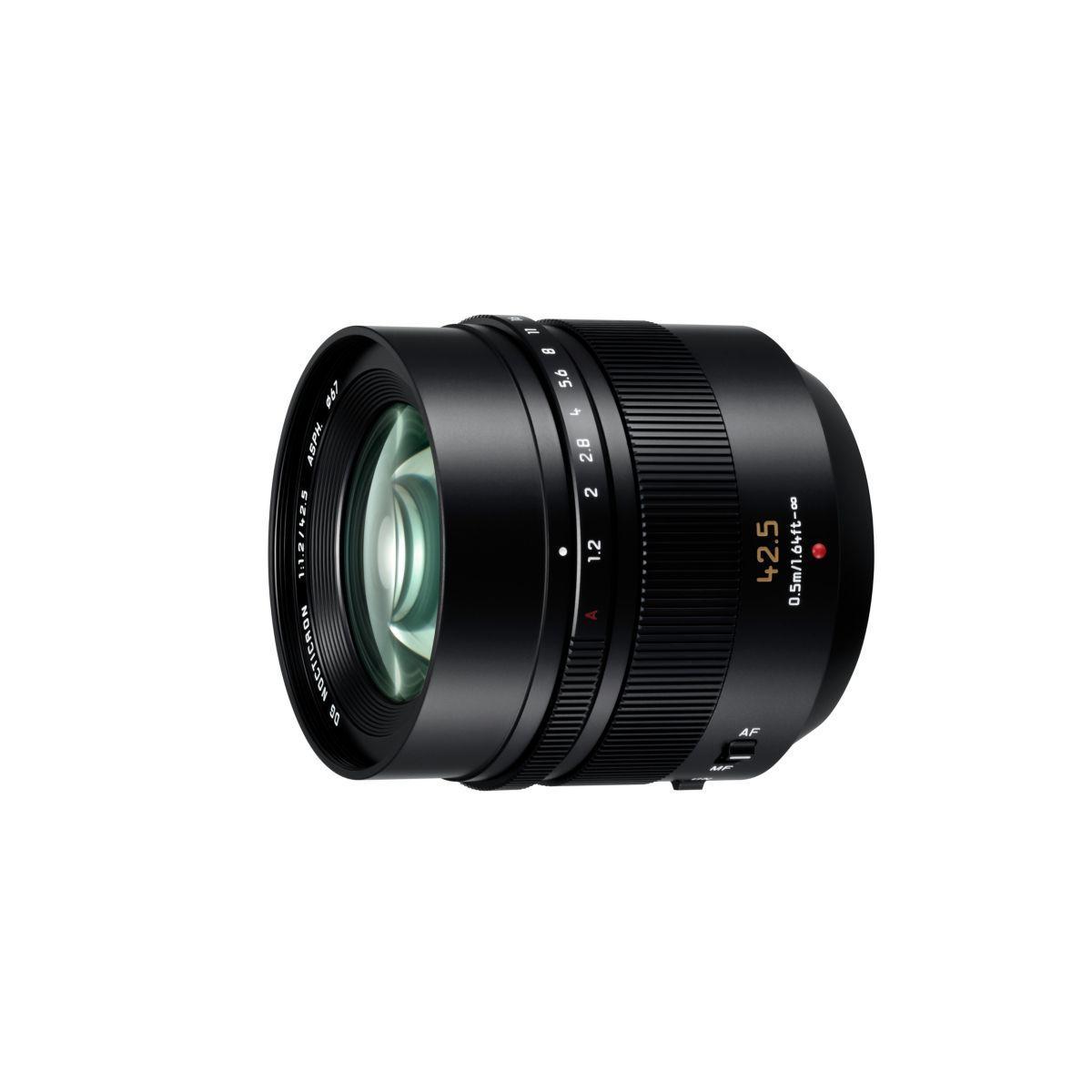 Objectif pour hybride panasonic 42,5mm f/1.2 ois leica dg noct...