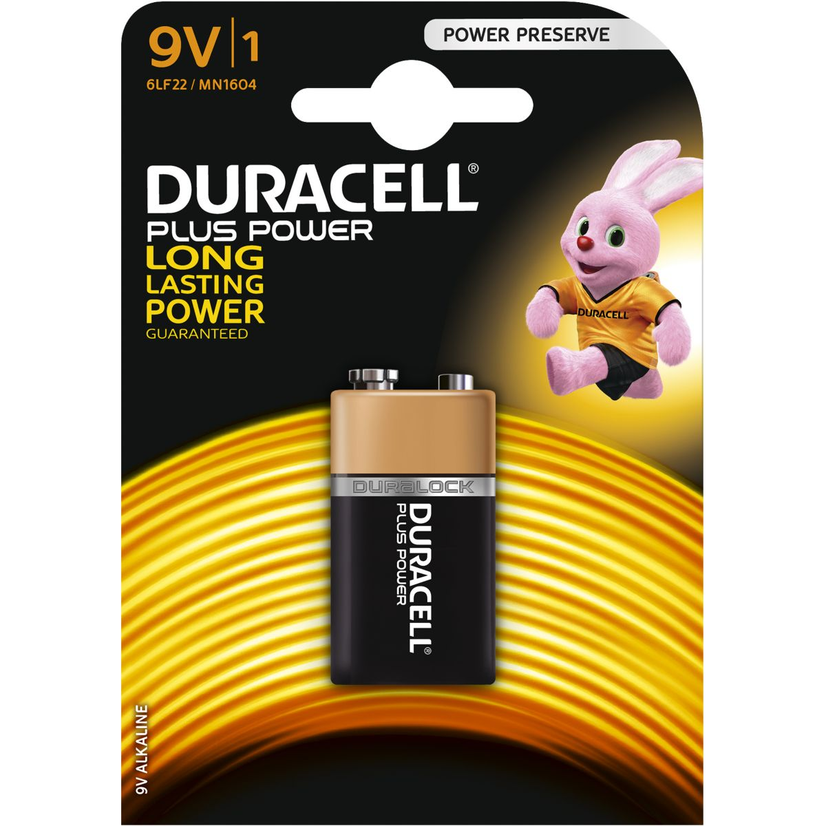 Pile non rechargeable duracell 9 volts x1 plus power (photo)