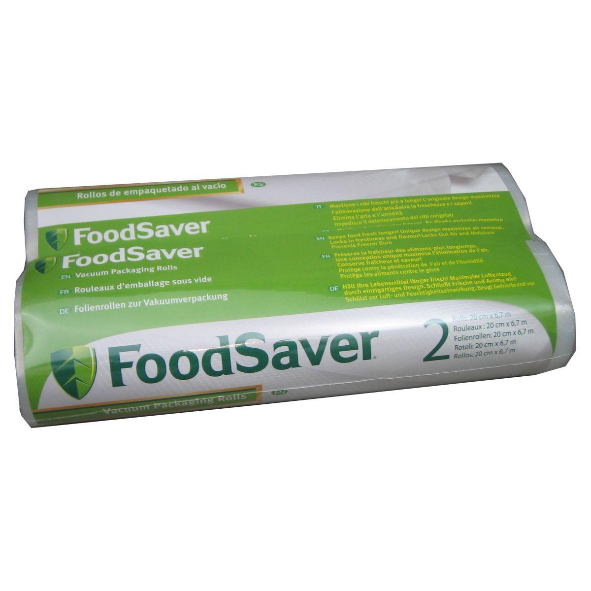 Boîte food saver 2 rouleaux 20 cm x 6.7 - produit coup de coeur webdistrib.com ! (photo)