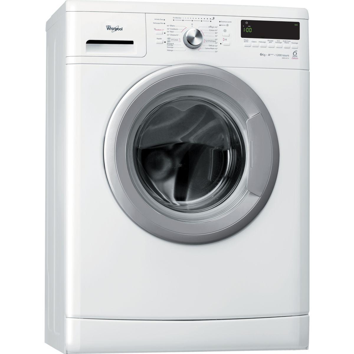 Lave-linge compact whirlpool aws6213 - 10% de remise immédiate avec le code : cool10 (photo)
