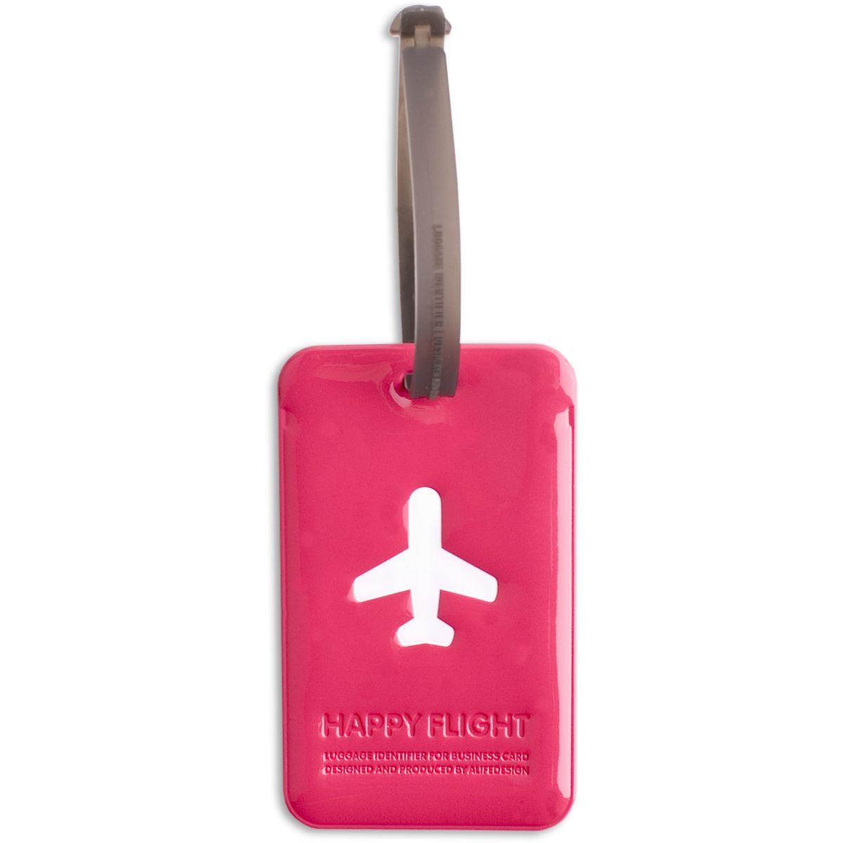 Accessoire alife etiquette valise rose (photo)