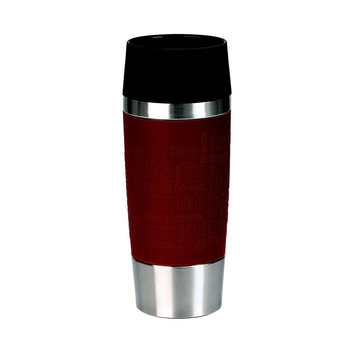 Mug isotherme emsa isotherme 0.36l inox/rouge (photo)