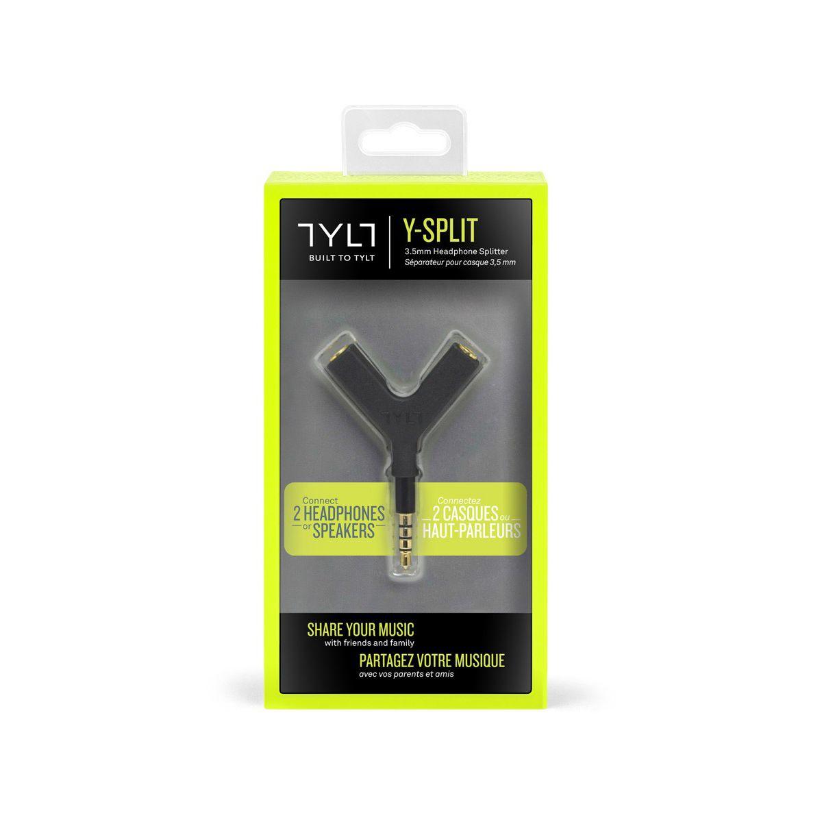 Adaptateur tylt y-split 3.5mm noir - 7% de remise immédiate avec le code : multi7 (photo)