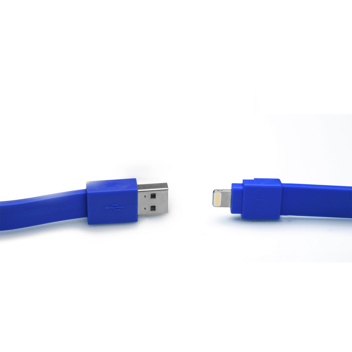 Câble lightning tylt syncable micro usb 30 cm bleu (photo)