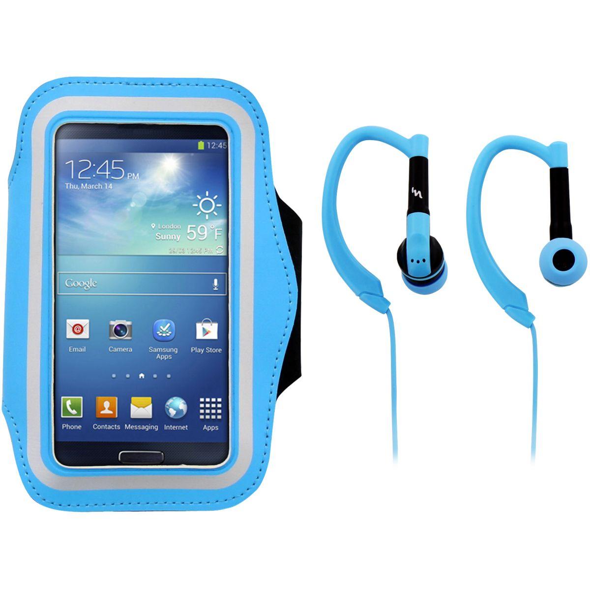 Brassard tnb + écouteurs sport bleu - 2% de remise immédiate avec le code : anniv2 (photo)