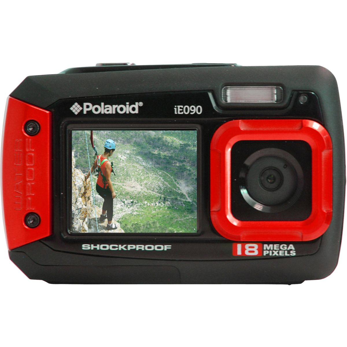 Appareil photo compact polaroid ie090 rouge - livraison offerte : code liv