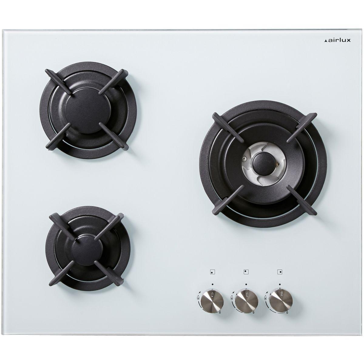 Table de cuisson gaz airlux av 635 hwh - produit coup de coeur webdistrib.com !