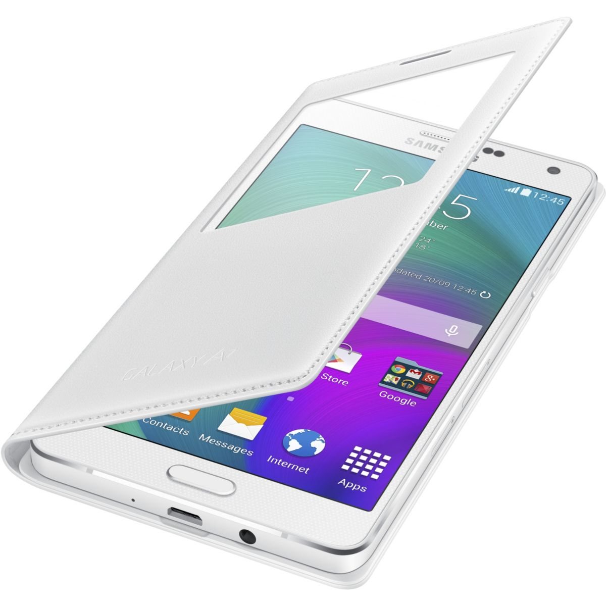 Etui samsung sview cover galaxy a7 blanc - soldes et bons plans