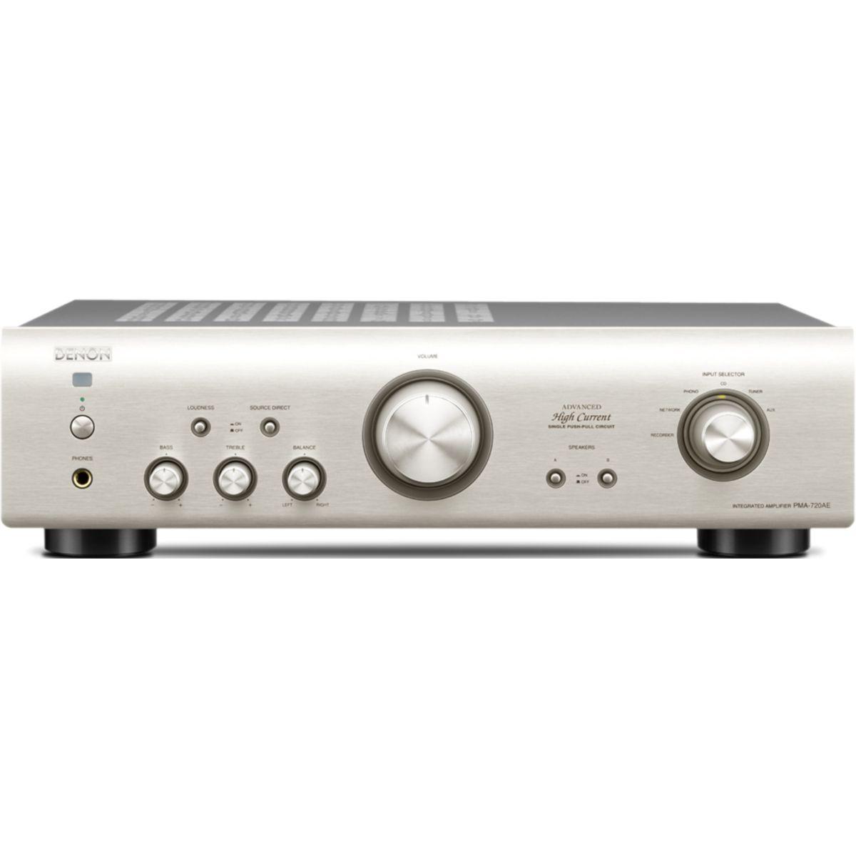 Amplificateur hi-fi denon pma720 silver - livraison offerte : code livprem