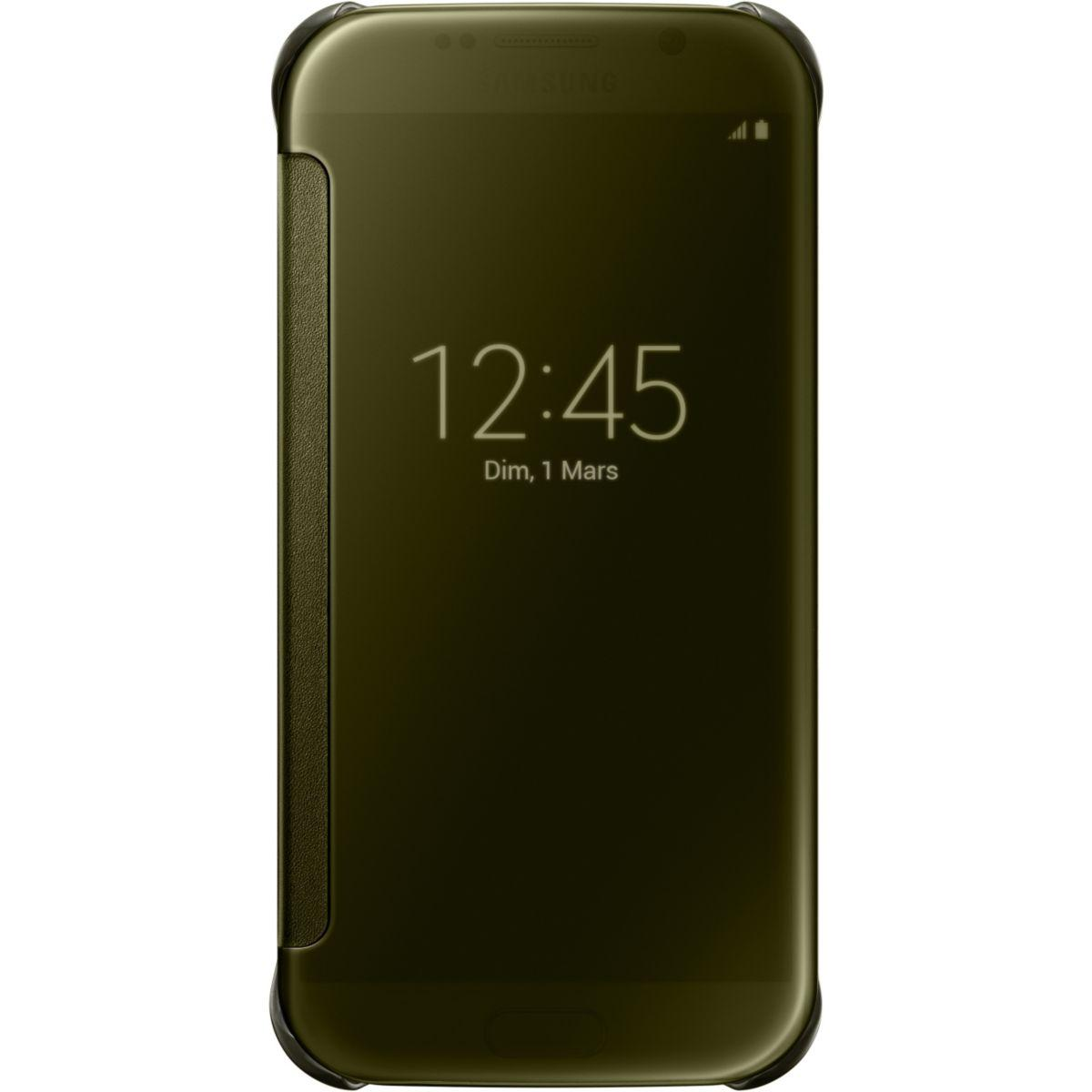 Etui samsung clear view cover galaxy s6 gold - soldes et bons plans